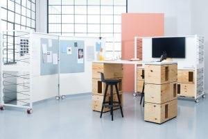 Colección componible modular Pixel de Bene, una de las sensaciones de esta muestra