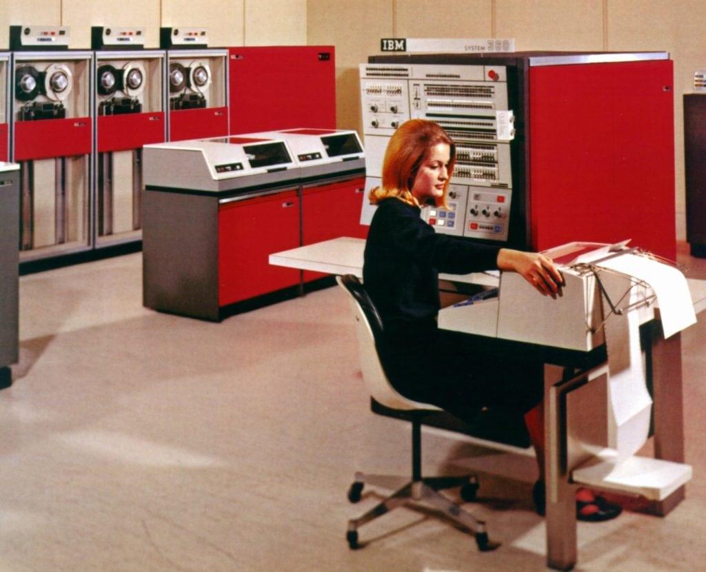 computación ibm system 360 mainframe computer