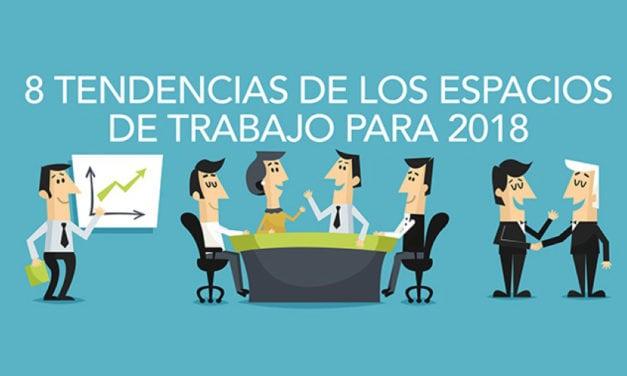 8 tendencias de los espacios de trabajo para 2018