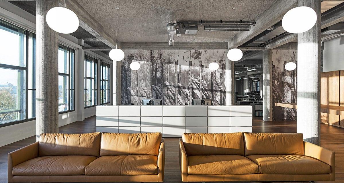 Nueva sede de Kaan Architecten en Róterdam, brutalista y elegante