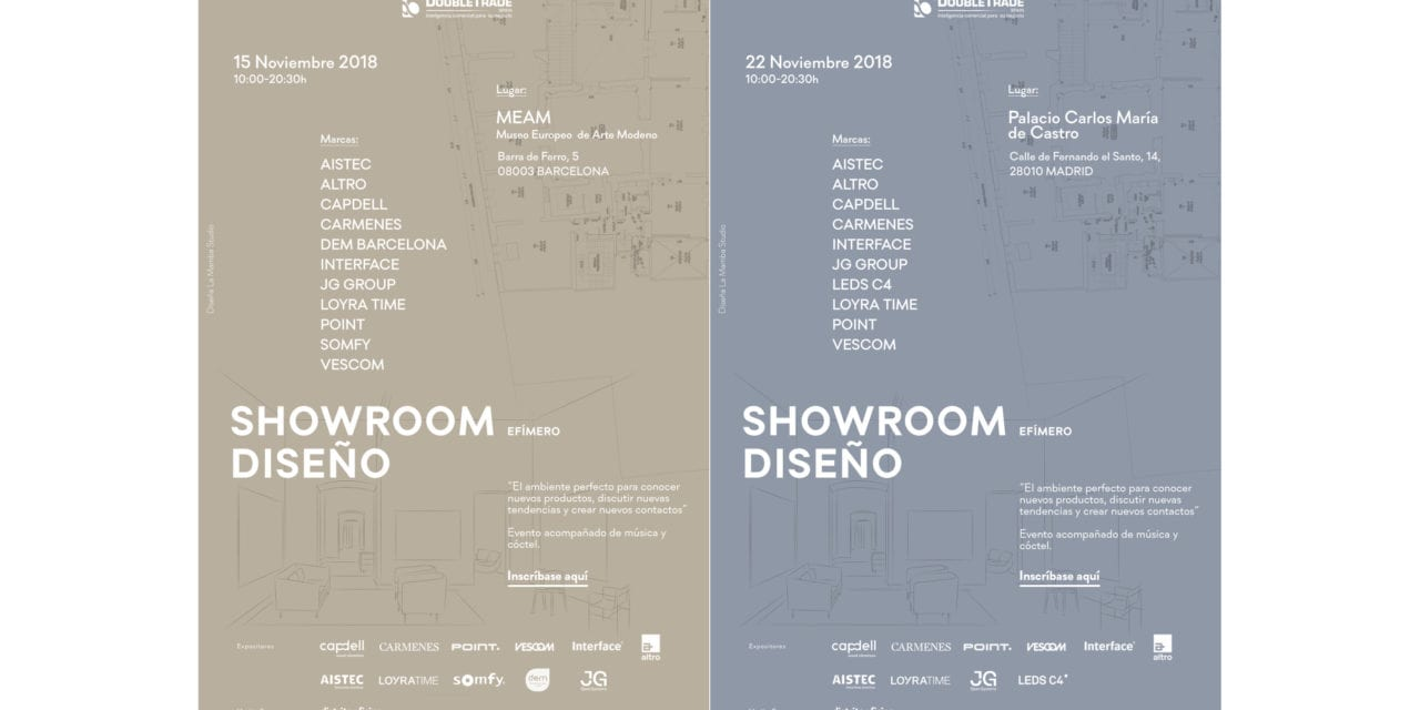 Se acercan los Showrooms de Diseño Double Trade Barcelona y Madrid