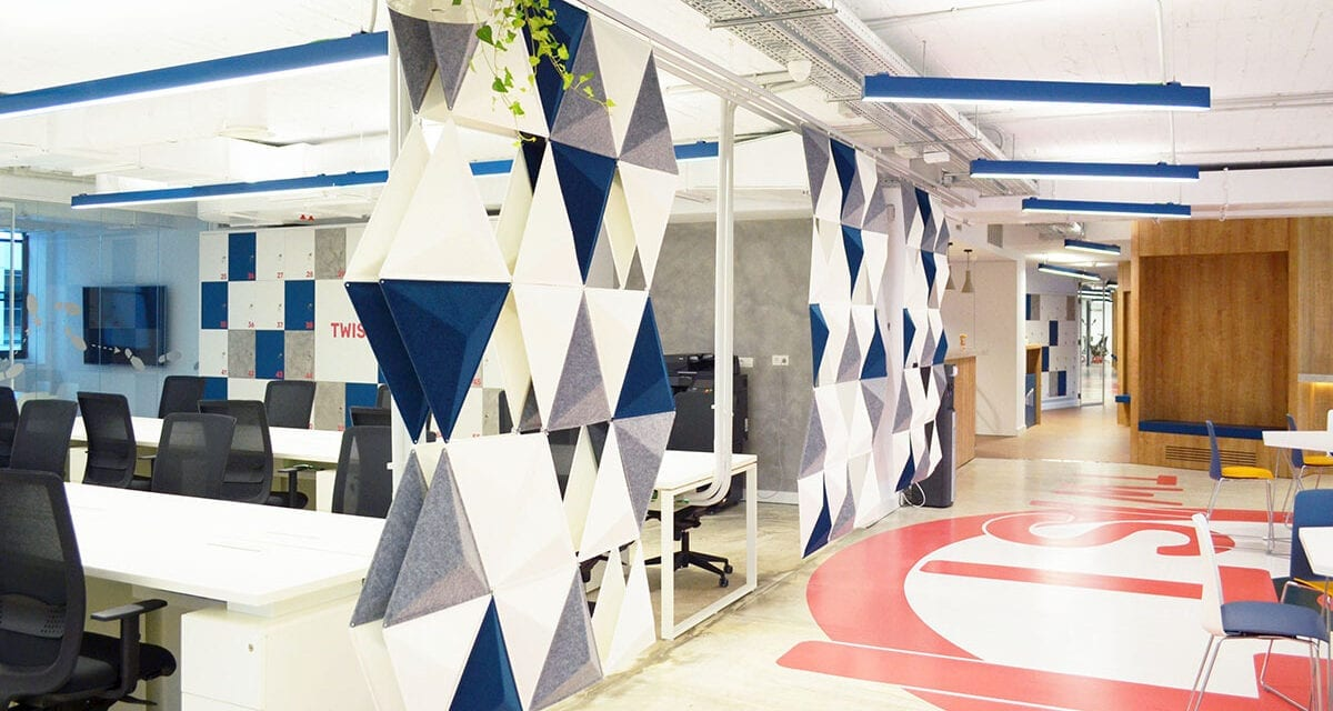 Oficinas Twisttt de Madrid, proyectadas por Gaztelu Arquitectos