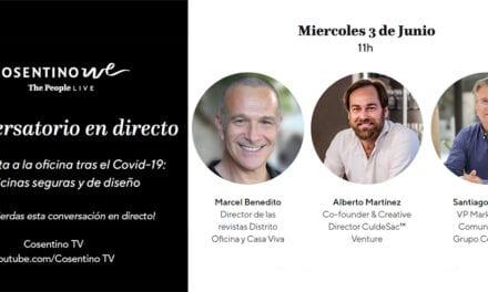 Conversatorio Cosentino live con Alberto Martínez, Santiago Alfonso y Marcel Benedito
