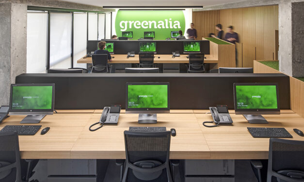 Oficinas Greenalia en A Coruña, diseño de Iván Cotado