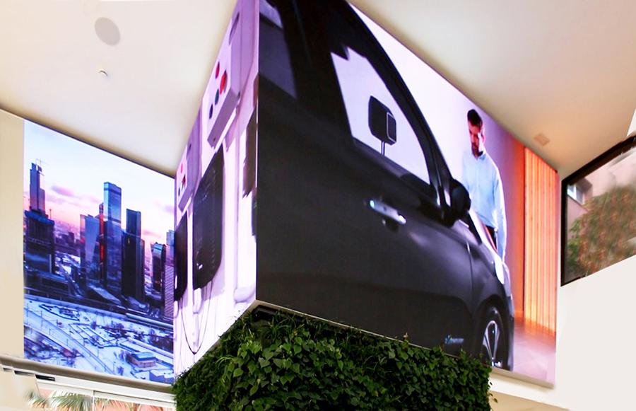 Wallbox apuesta por la digitalización LED Dream en sus oficinas corporativas