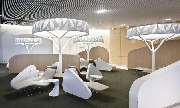 Business lounge Air France en París-Charles de Gaulle, de Brandimage y Noé Duchaufour-Lawrance