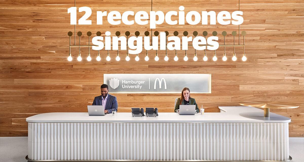 Los mejores lobbies y espacios de recepción de interiores corporativos